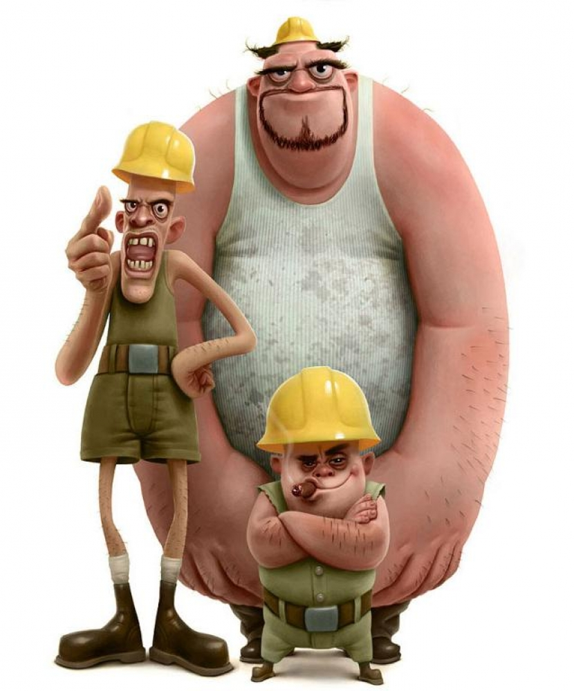 Смешные картинки о строителе, поздравления днем